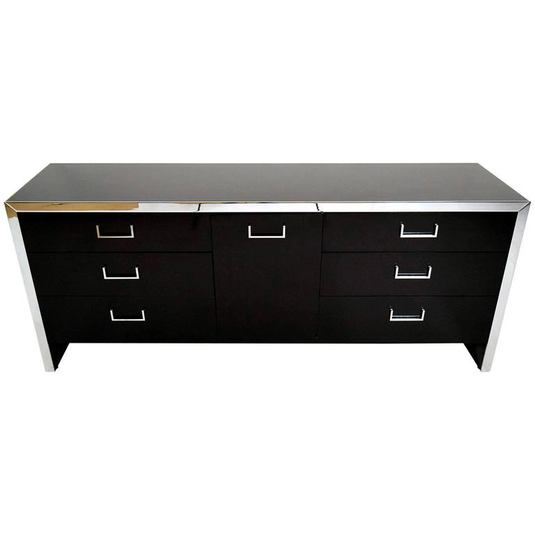 Mid-Century Modern Chrome Credenza or Chest of Drawers