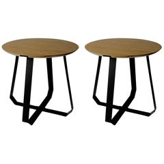 Pair of Shunan End/ Side Table by Nieuwe Heren