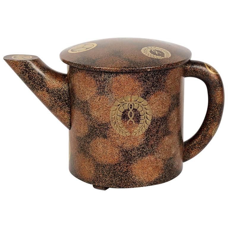 Meiji Japanese Lacquered Tea Pot