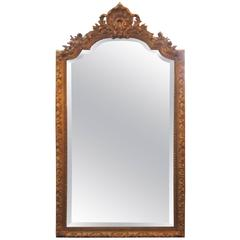 Giltwood and Gesso Louis XV Style Mirror by Carvers Guild