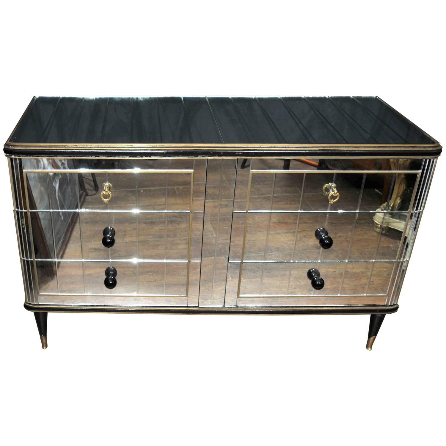 Antique Art Deco Mirrored Cabinet Chest Of Drawers 1920s Furniture For Sale At 1stdibs