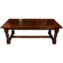 Extending Oak Refectory Table Farmhouse Dining Table