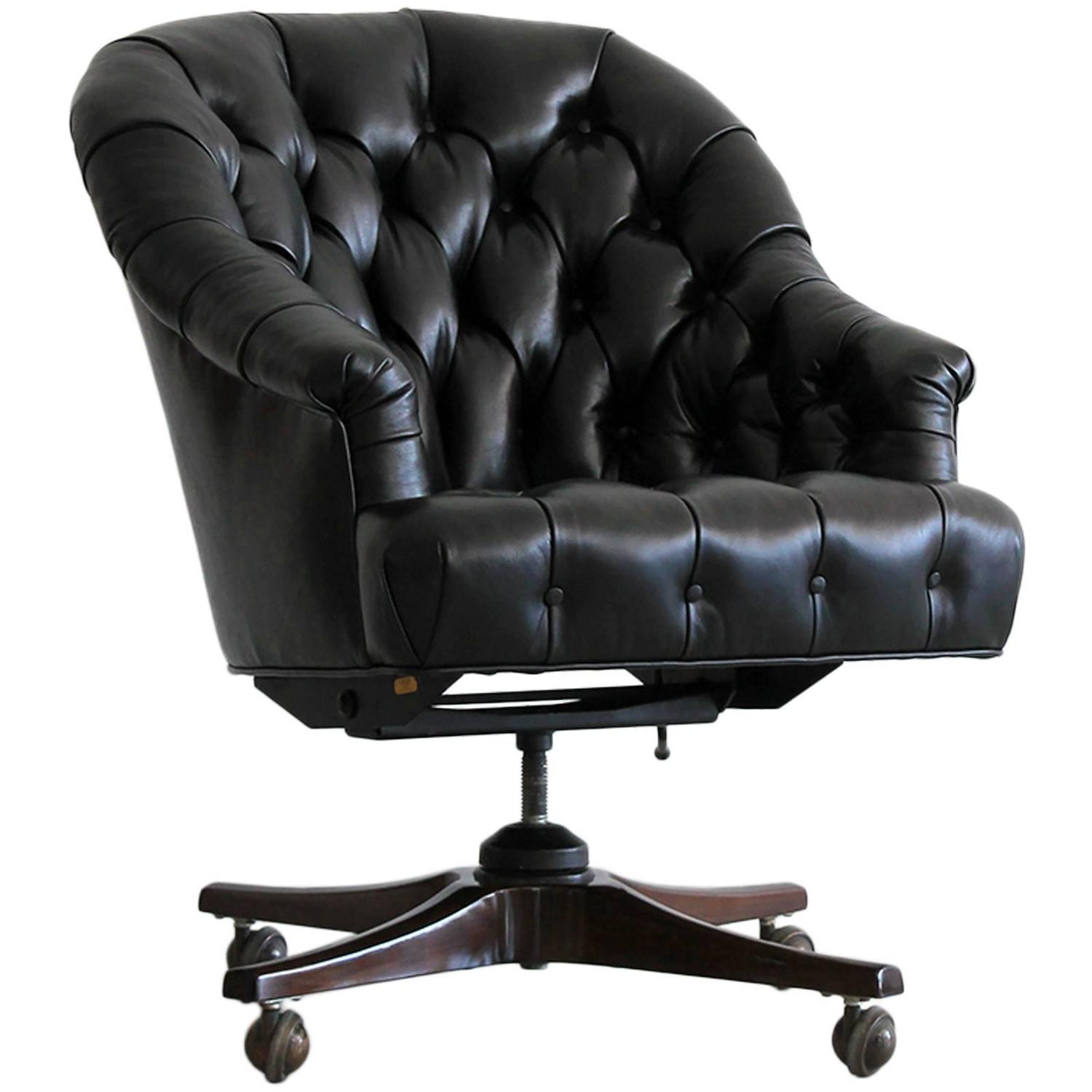 Amazing photo of Dunbar Executive Desk Chair at 1stdibs with #444488 color and 1500x1500 pixels