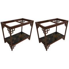Pair of Chinoiserie Side Tables by Maitland-Smith