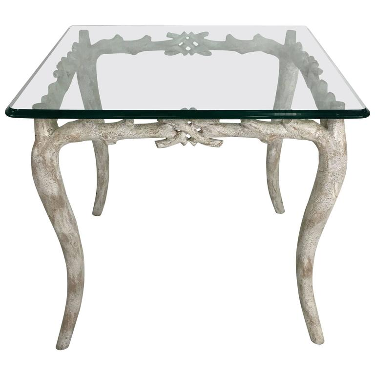 Wonderful concrete faux bois garden table for sale at 1stdibs Table jardin imitation bois