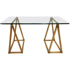 Classic McGuire Sawhorse Style Writing Table
