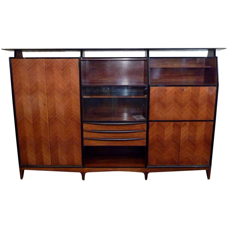 Italian 1950s Cabinet in the Manner of Paolo Buffa
