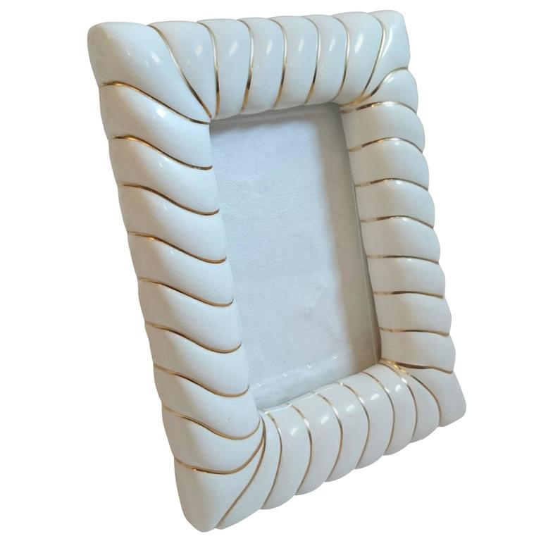 Photo Frame in Porcelain by Tommaso Barbi