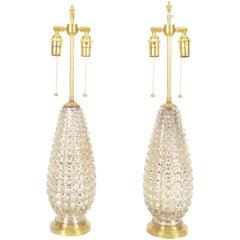 Crocodile Texture Mercury Glass Lamps