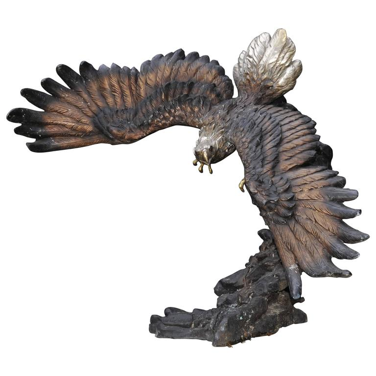 Large Bronze Statue Of An American Bald Eagle At 1stdibs