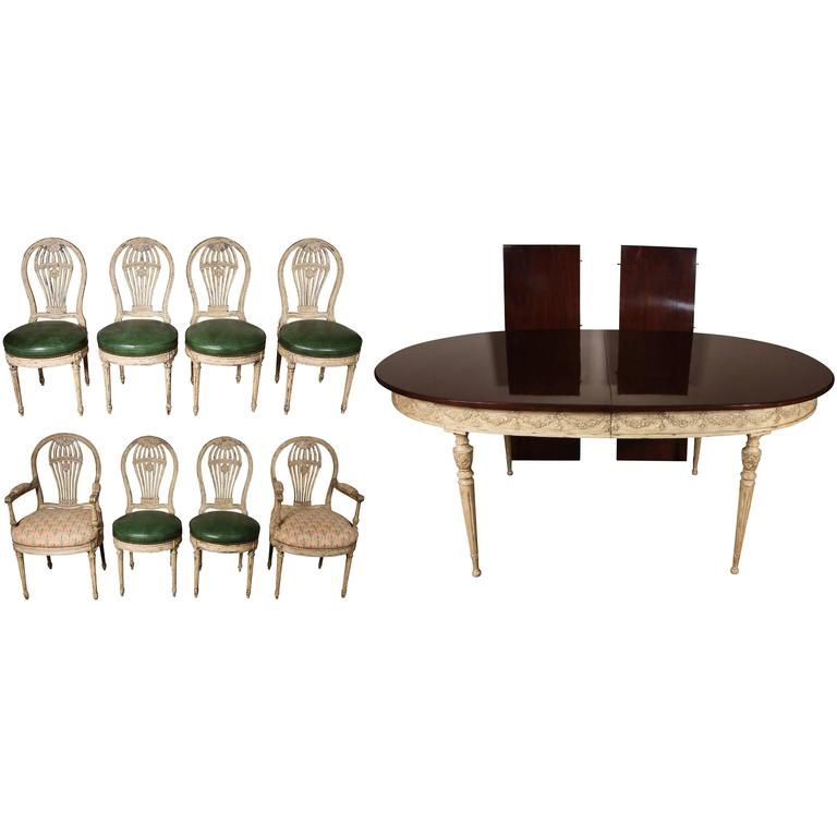 Outstanding Lewis Mittman Dining Room Suite For Sale At