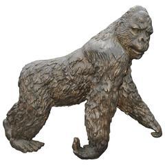 Lifesize Bronze Gorilla Statue Casting Animal Primate