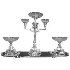 Elkington Sheffield Silver Plate Epergne Centerpiece Cherub Dish