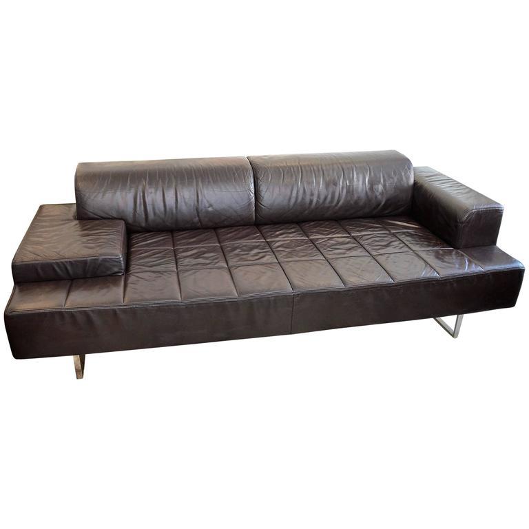 studio cerri and associati sofa 39 quadra 39 for poltrona frau at 1stdibs. Black Bedroom Furniture Sets. Home Design Ideas