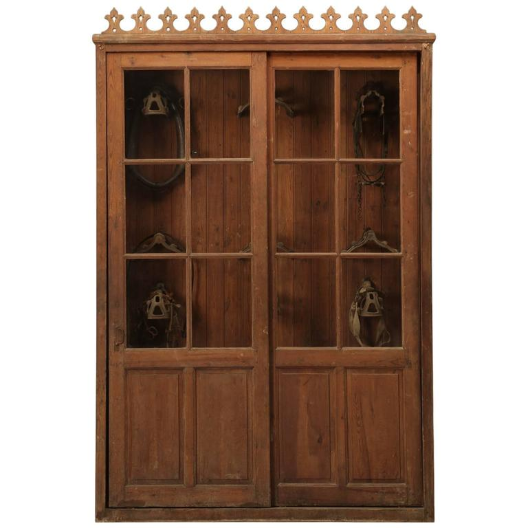 French Tack Cabinet or Potential Bookcase 1