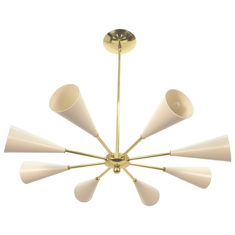 Conical Sputnik Chandelier Stilnovo Style