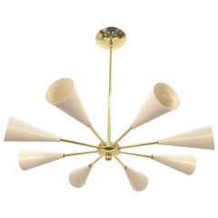 Conical Sputnik Chandelier Stilnovo Style