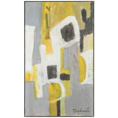 Large Abstract Oil Painting by Teichman de Stijl