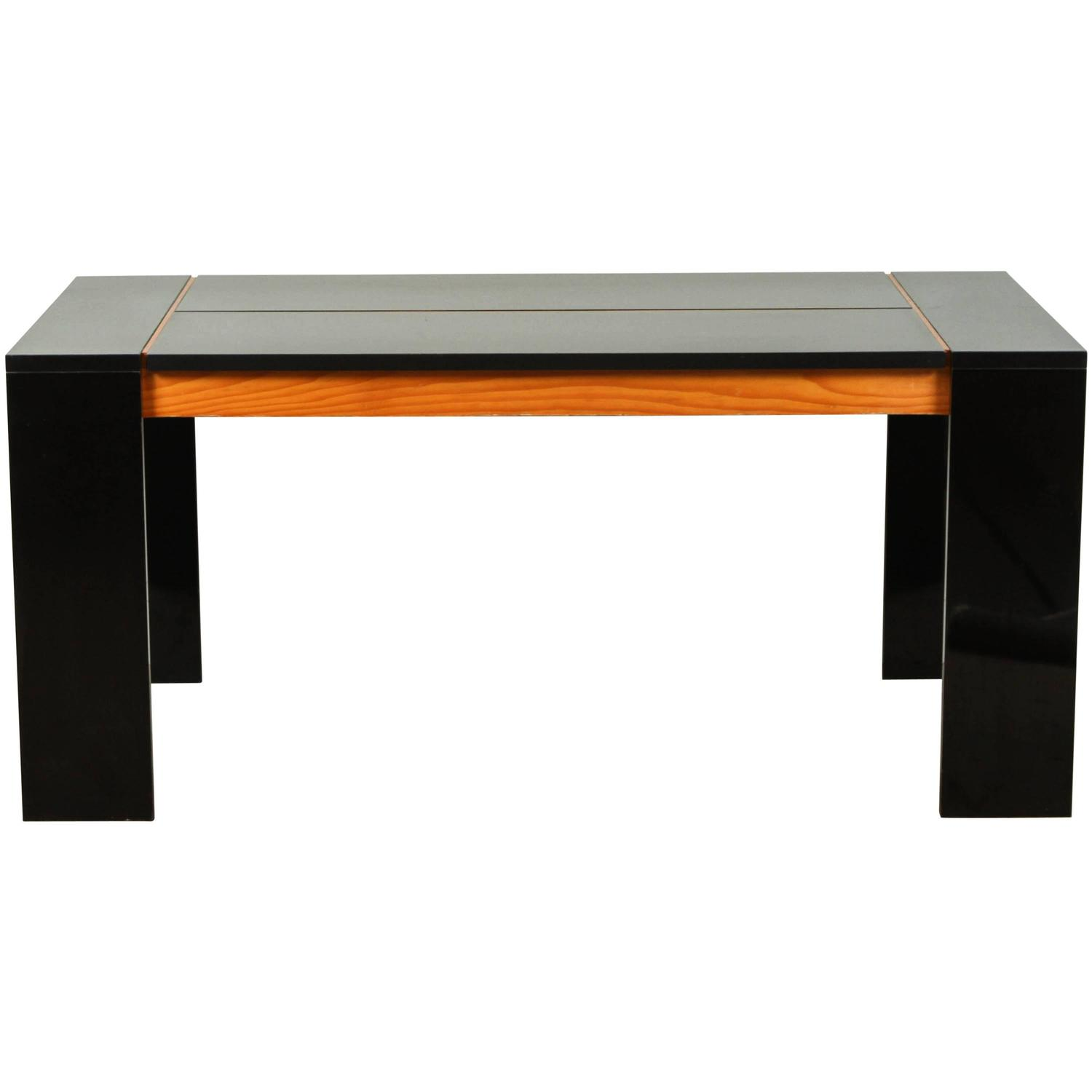 Italian modern dining table in black laminate and douglas fir for sale at 1stdibs - Laminate kitchen tables ...