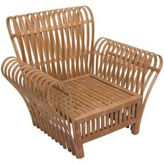 Bamboo Slat Lounge Chair