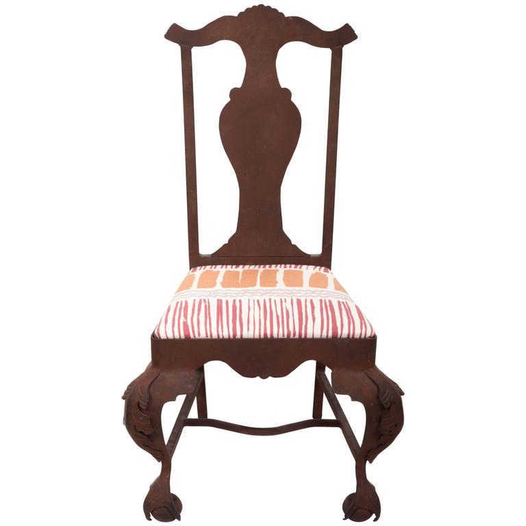 Iron Queen Anne Chair