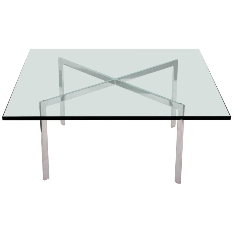 Mid Century Mies Van Der Rohe Barcelona Coffee Table At 1stdibs