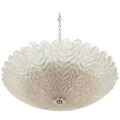 Textured Glass Flush Mount Fixture