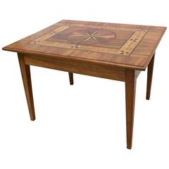 Continental Inlaid Table with Drawer