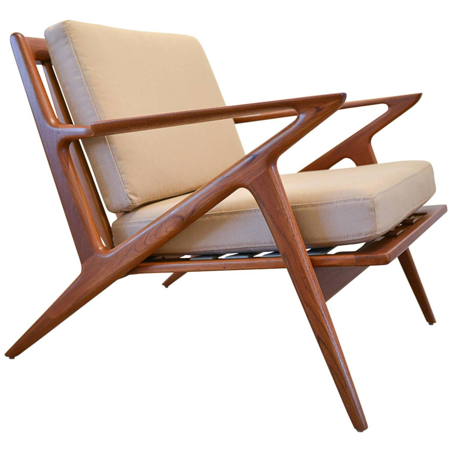 Z Lounge Chair by Poul Jensen for Selig at 1stdibs