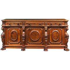 19th Century American Walnut Sideboard