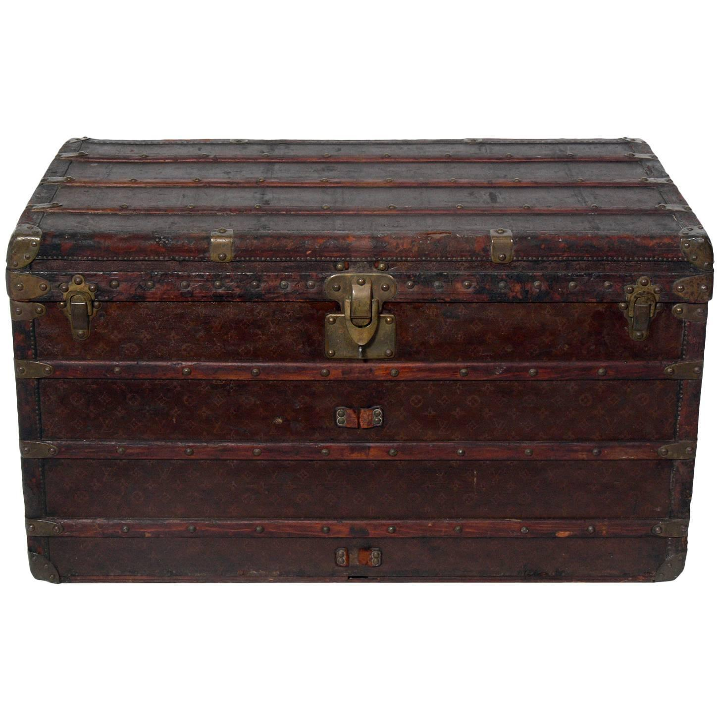 Lv Trunk Coffee Table: Louis Vuitton Wardrobe Steamer Trunk For Sale At 1stdibs