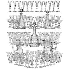 """Moser """"Diplomat"""" Crystal Beverage Service 101 Pieces"""