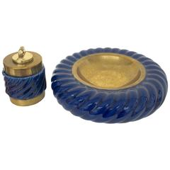 Set of Tommaso 'Tomasso' Barbi Ashtray and Lighter