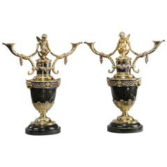 Superb Pair of Victorian Silver Gilt Candelabra