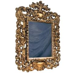 Impressive Late 19th Century Carved Giltwood Rococo Style Mirror