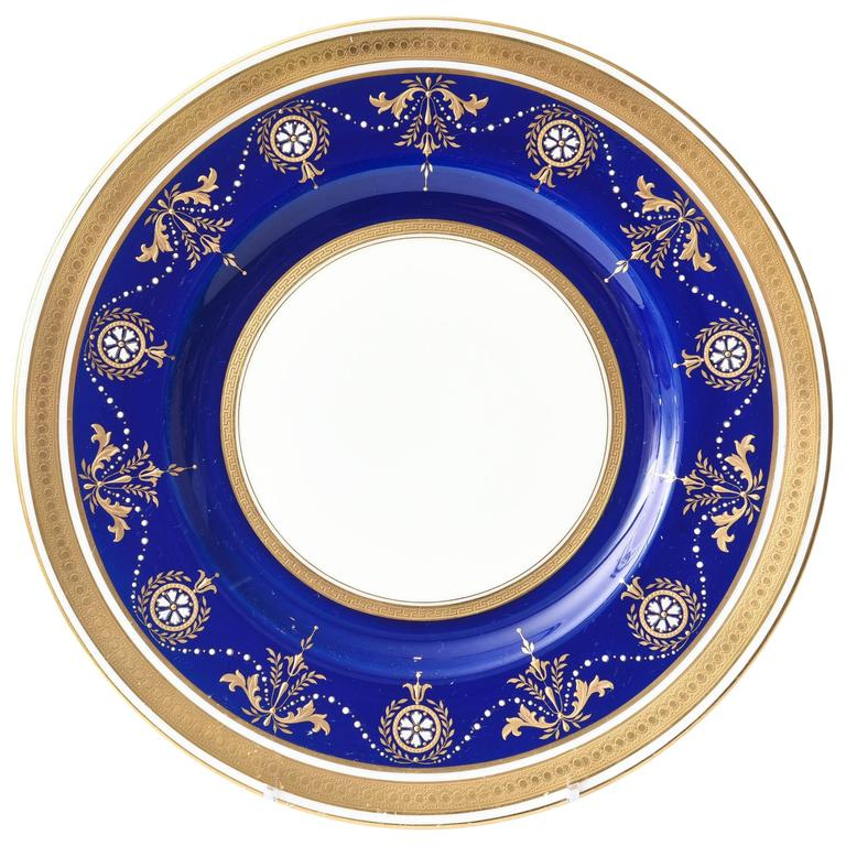 12 Antique Minton England Elaborate Cobalt Jewel and Gilt Encrusted Dinner Plate For Sale  sc 1 st  1stDibs & 12 Antique Minton England Elaborate Cobalt Jewel and Gilt Encrusted ...