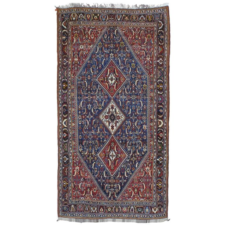 Qashqai Shiraz Rug: Antique Qashqai Rug For Sale At 1stdibs