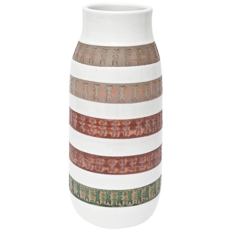 Italian Mid Century Modern Aldo Londi Bitossii Ceramic Vase/ Vessel SUMMER SALE