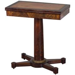 Charles X Period Antique French Game Table, circa 1825