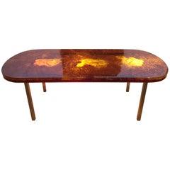 1970s Fractal Resign Dining Table by Marie-Claude De Fouquières