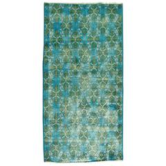 Caribbean Blue Turkish Konya Rug
