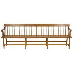 Long Spindle Back Deacon Bench