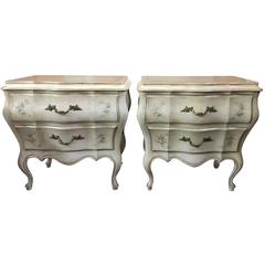 Romantic Painted Night Tables Chests