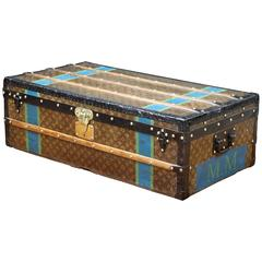 1930s Louis Vuitton Stencil Monogram Canvas Cabin Trunk