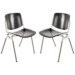 Pair of Italian Chairs Designed by Giancarlo Piretti for Castelli, 1960s