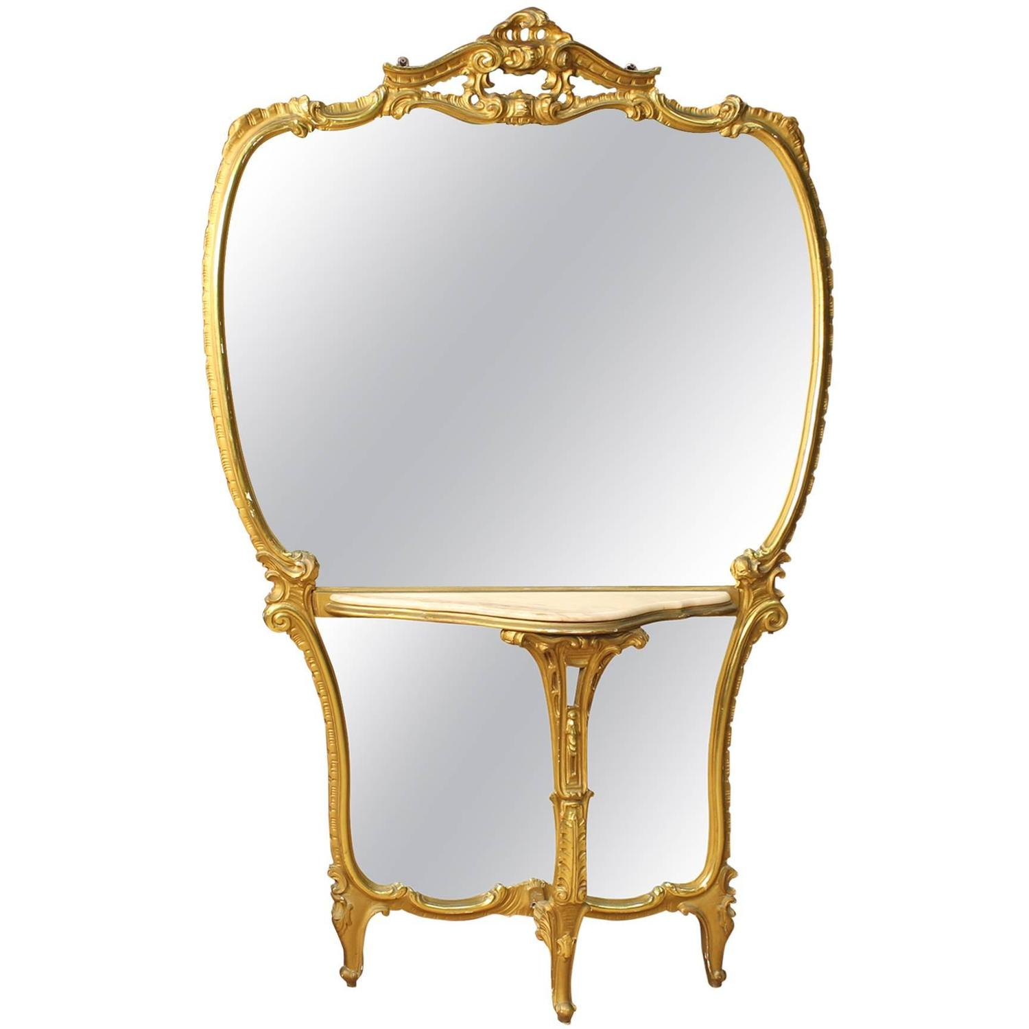 20th century italian gilded cheval mirror at 1stdibs for Cheval mirror