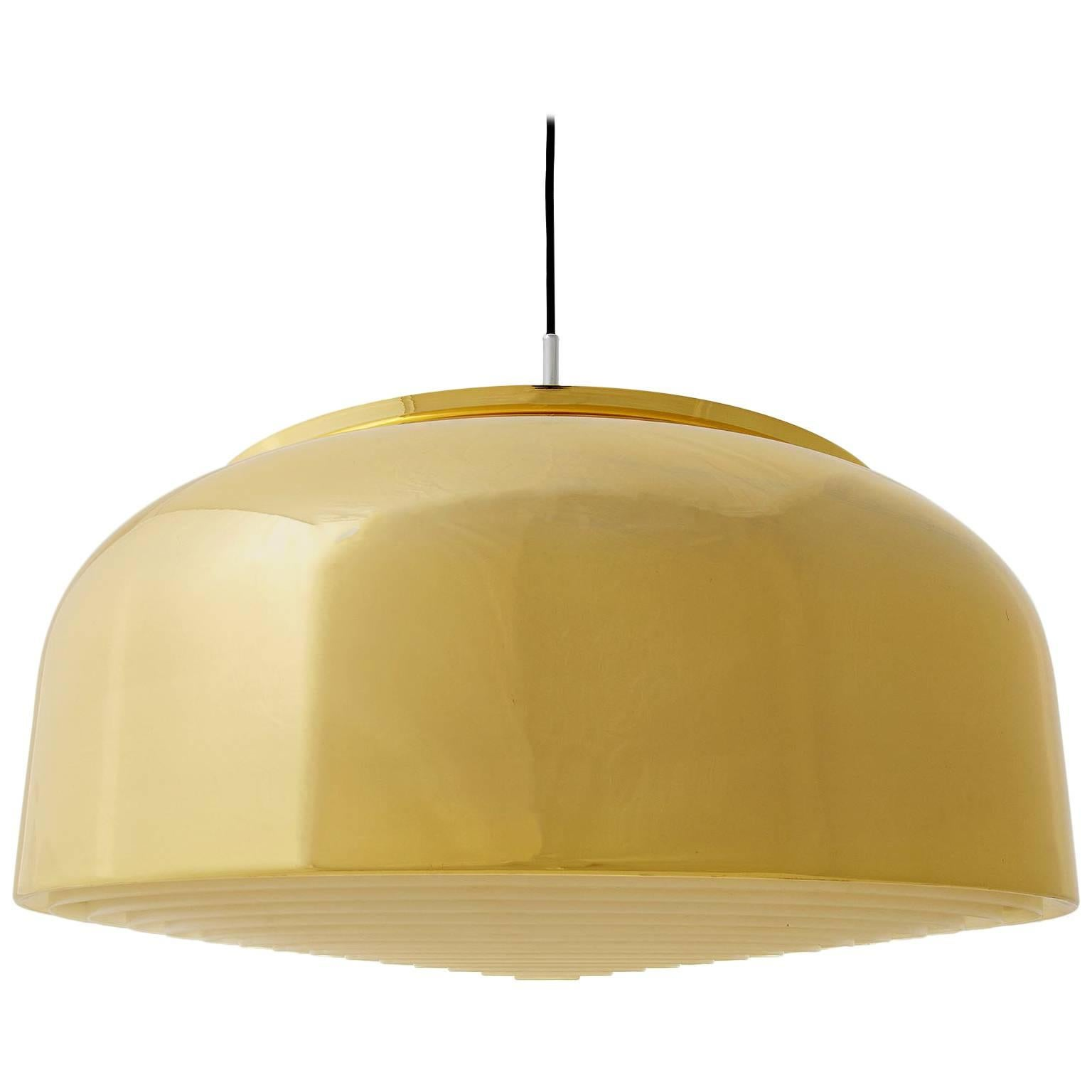 Brass Pendant Light Knubbling by Anders Pehrson for Ateljé Lyktan, Sweden, 1970s