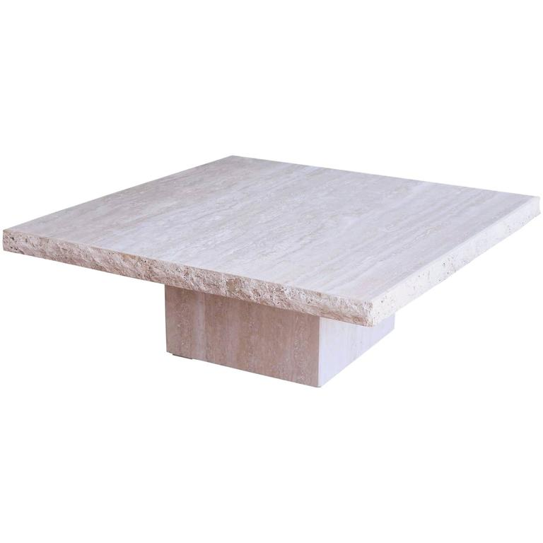 Monumental roche bobois travertine coffee table at 1stdibs Roche bobois coffee table