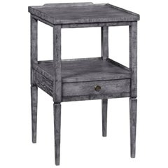 Dark Grey Lamp Table with Drawer