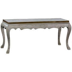 Gray Oak Clawed Foot Console